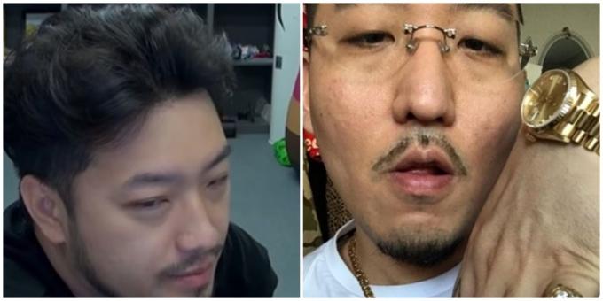 침착맨(왼쪽)이 유튜브 방송에서 염따에게 속아 비싼 의자를 산 일화를 소개했다. /사진=유튜브 캡처, 인스타그램 캡처