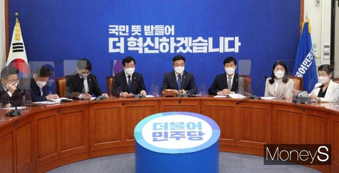 """[머니S포토] 윤호중 """"많은 국민들 백신 수급 상황에 우려 표하고 있어"""""""