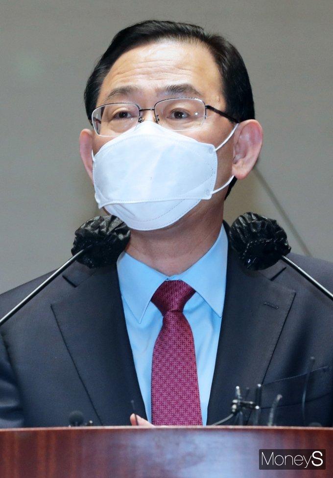 [머니S포토] 김상희 부의장 사과관련 발언하는 주호영
