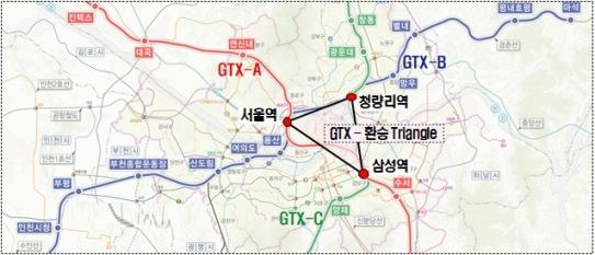 GTX 노선도. /자료 제공=국토교통부