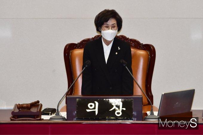 [머니S포토] 野 조롱발언 이틀만에 사과발언하는 '김상희'