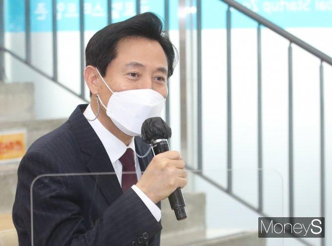 """[머니S포토] 오세훈 시장 """"창업도시 서울 만들겠다"""""""