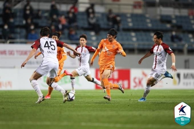 제주 유나이티드가 FC서울을 2-1로 이겼다.(한국프로축구연맹 제공)© 뉴스1