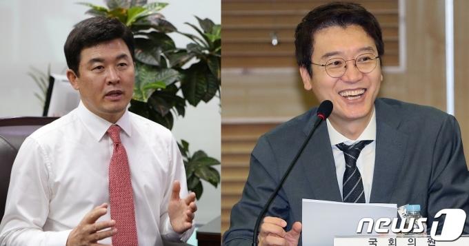 국민의힘 윤영석 의원(왼쪽)과 김웅 의원(오른쪽) © 뉴스1