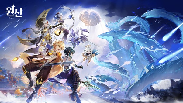 미호요(miHoYo Limited)의 오픈월드 액션 RPG '원신'을 플레이스테이션5에서 즐길 수 있다. /사진제공=미호요