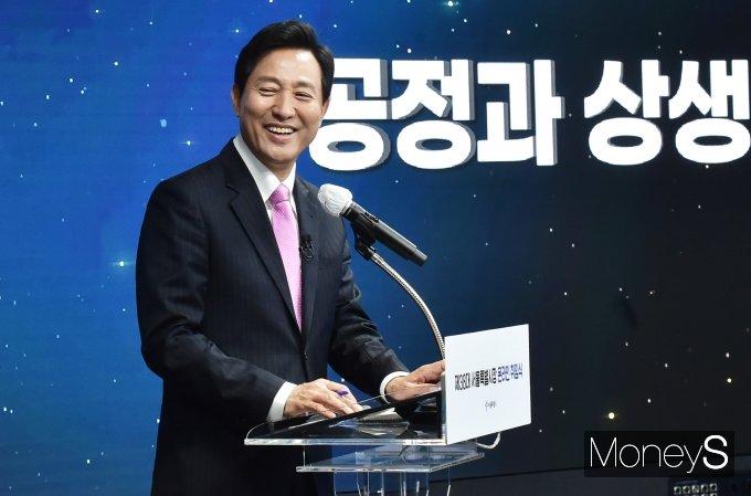 """[머니S포토] 오세훈 시장 """"장기전세주택 사업을 발전시켜 서민 주거 안정 지원"""""""