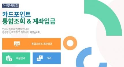 여신금융협회 카드포인트 통합조회·계좌이체 홈페이지 화면 캡처./사진=여신금융협회