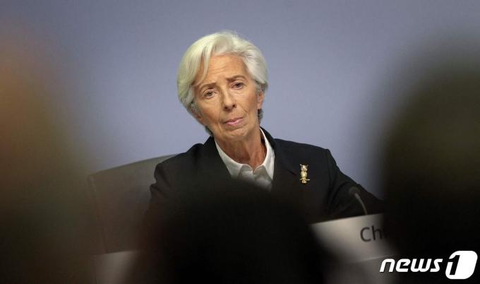 크리스틴 라가르드 유럽중앙은행(ECB)총재 © AFP=뉴스1
