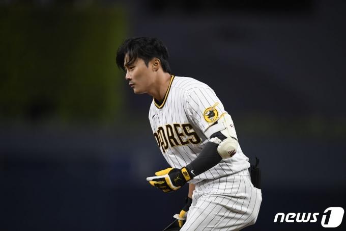 메이저리그(MLB) 샌디에이고 파드리스의 김하성.  © AFP=뉴스1