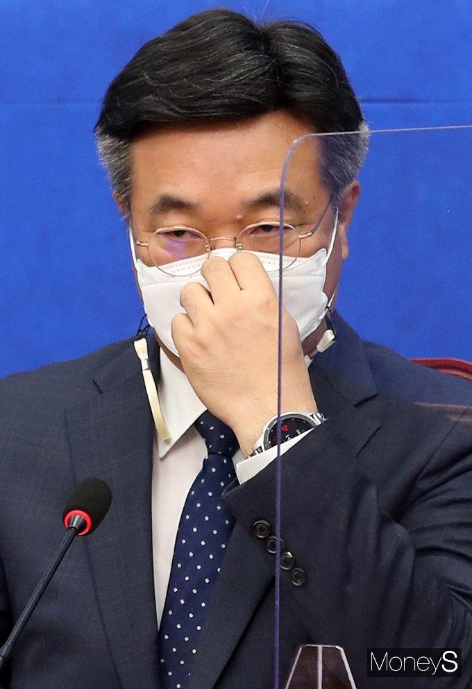 """[머니S포토] 윤호중 """"왜 혁신 단합해야 하는지 합동 연설회 확인해가고 있어"""""""