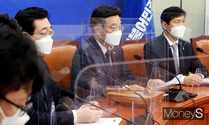 """[머니S포토] 윤호중 """"기후변화대응, 전세계 정상 시급히 다뤄야 할 시대적 과제"""""""
