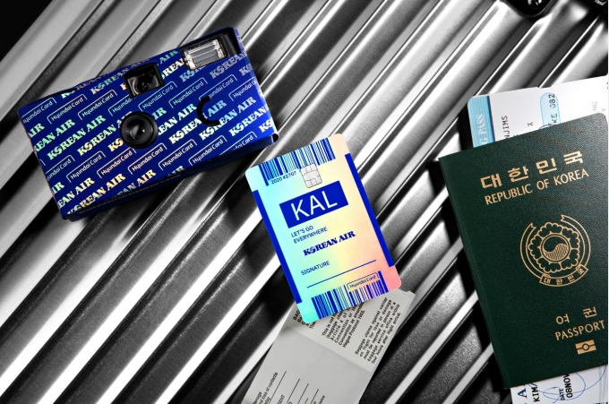 대한항공이 오는 5월29일 현대카드와 상업자 표시 신용카드(PLCC) 파트너십으로 선보인 '대한항공카드' 출시 1주년을 기념하는 특별기를 띄운다./사진=대한항공