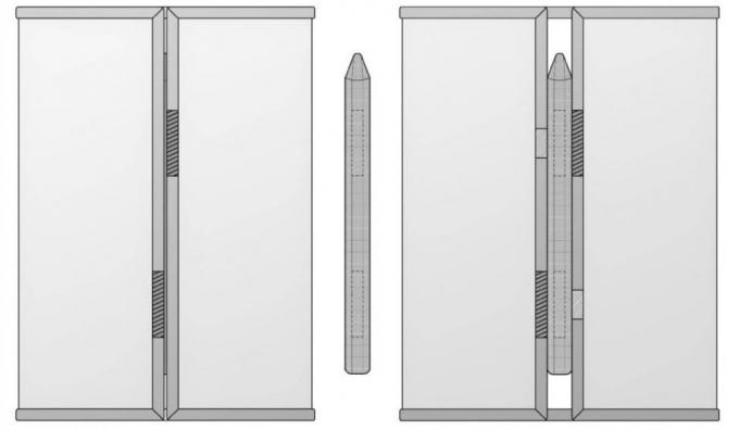 갤럭시Z폴드3에 S펜을 기기 자체에 보관할 수 있는 수납공간이 추가됐다. 사진은 렌더링 이미지. /사진제공=렛츠고디지털