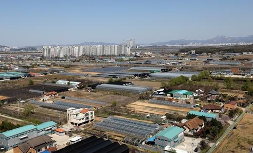 지난 8일 오후 2차 3기신도시 후보지로 거론되는 경기 김포시 고촌읍 일대. /사진=뉴스1