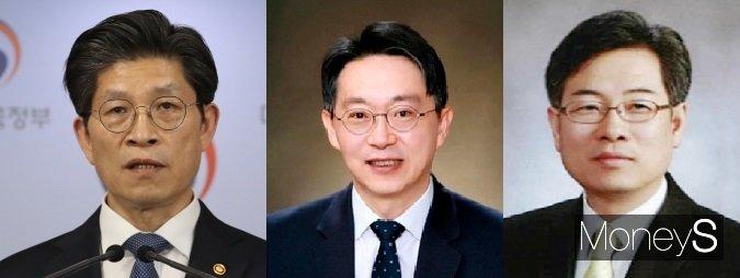 왼쪽부터 노형욱 국토 장관 후보자, 김현준 LH 사장, 권형택 HUG 사장. /사진=각 기관 제공
