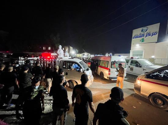 지난 25일(현지시간) 이라크 한 대형병원에서 화재가 발생해 최소 82명이 숨졌다. /사진=로이터