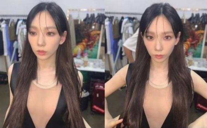 소녀시대 태연이 인형 같은 모습으로 눈길을 끌었다. /사진=태연 인스타그램