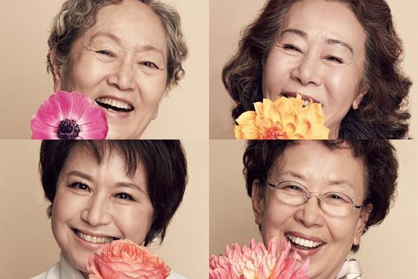 2016년 방송된 tvN '디어마이프렌즈' 포스터. (왼쪽 위부터 시계방향) 김영옥, 윤여정, 나문희, 박원숙. /사진=cj e&m 제공