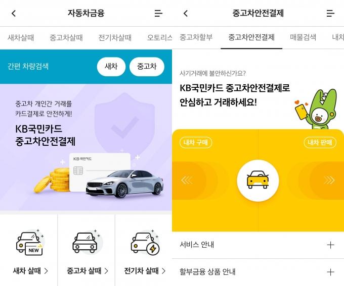 'KB국민카드 중고차 안전결제 서비스'가 출시됐다./사진=KB국민카드