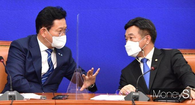 [머니S포토] 송영길·윤호중 투톱 체제, 민주당 쇄신하나