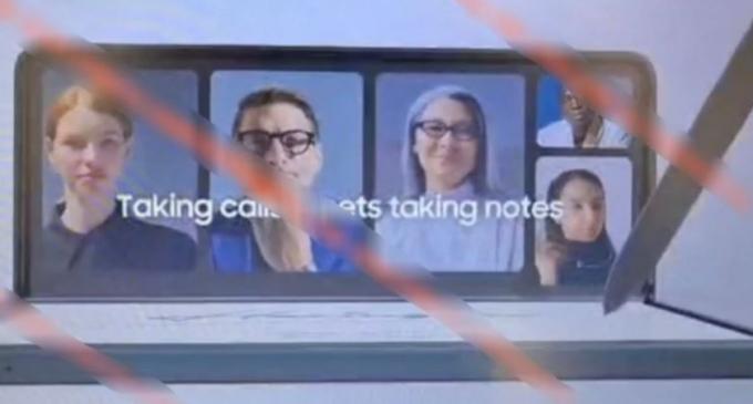 올해 출시 예정인 삼성전자의 폴더블폰 '갤럭시Z폴드3'의 홍보영상 캡처본으로 추정되는 이미지가 유출됐다. /사진제공=샘모바일
