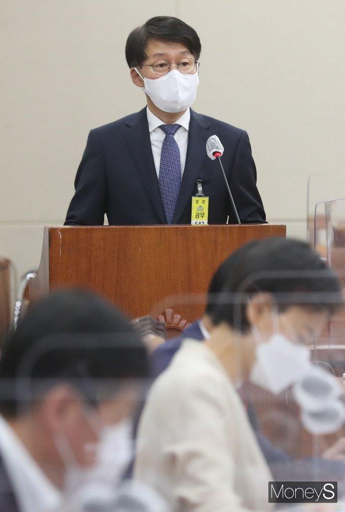 [머니S포토] 인사말 하는 안경덕 고용노동부 장관 후보자