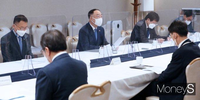[머니S포토] 홍남기 부총리 주재 제21차 부동산시장 관계장관회의