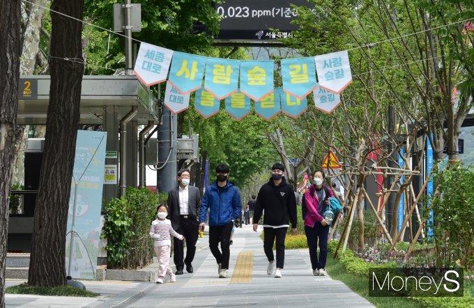 [머니S포토] 서울시, 1.55km 사람숲길 완공된 가운데...