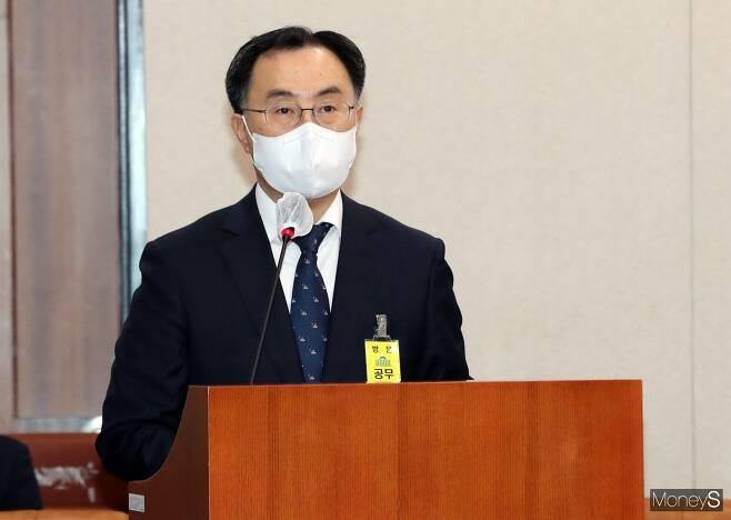 문승욱 산업통상자원부 장관이 6일 공식 취임했다. / 사진=장동규 기자