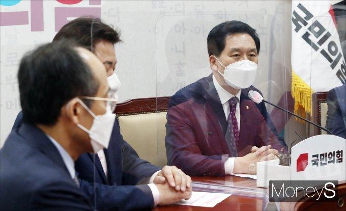 [머니S포토] 김기현 권한대행, 전당대회 준비위원회의 주재