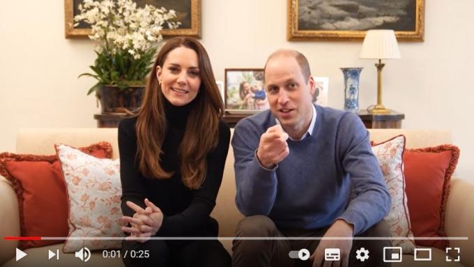 6일(현지시각) 영국 매체 가디언에 따르면 영국 왕세손 부부가 유튜브에 데뷔해 관심을 모았다. /사진=유튜브 캡처