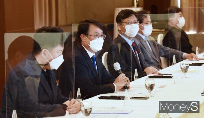 [머니S포토] 교육부-국교조 첫 교섭, 인사말 전하는 남중웅 위원장