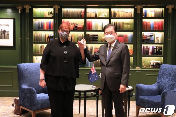 한-호주 외교장관회담(외교부 제공)© 뉴스1