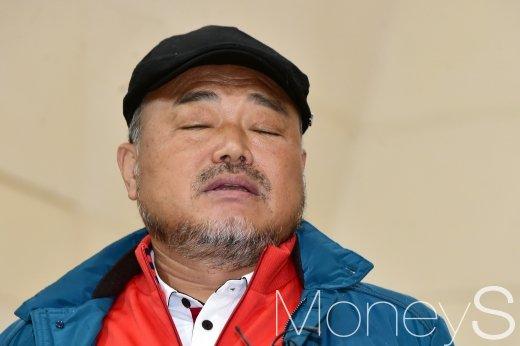 """김흥국이 오토바이 접촉사고 관련 """"뺑소니가 절대 아니""""라고 말했다. /사진=임한별 기자"""