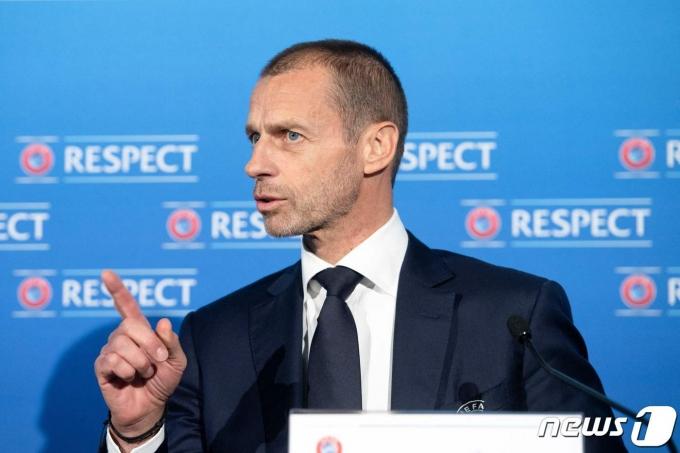ESL 참가 팀들에게 징계를 내린 UEFA © AFP=뉴스1