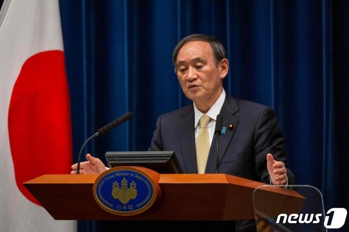 스가 요시히데 일본 총리. © AFP=뉴스1 © News1 우동명 기자