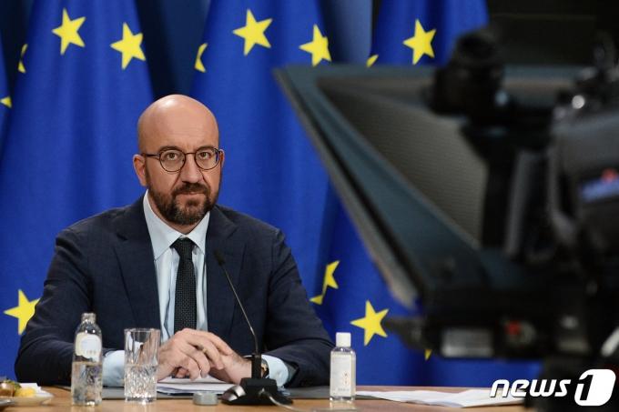 샤를 미셸 유럽연합(EU)정상회의 상임의장. © AFP=뉴스1 © News1 우동명 기자