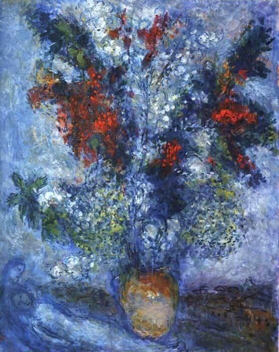 러시아 출신 프랑스 화가 마크 샤갈(1887-1985)의 '연인들의 꽃다발'© 뉴스1