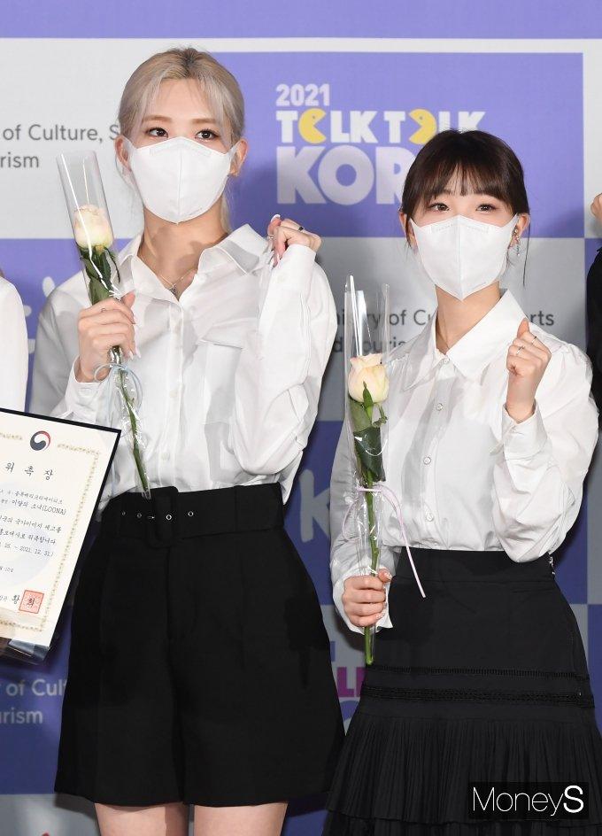 [머니S포토] 이달의 소녀 김립·여진 '열심히 할게요~'