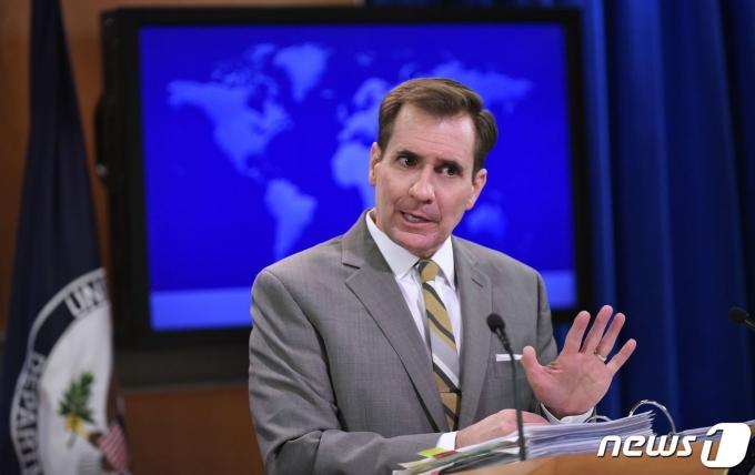 존 커비 미국 국방부 대변인 <자료사진> © AFP=뉴스1