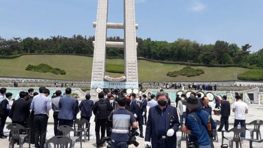 광주지방보훈청은 오는 18일 오전 10시 광주 북구 운정동 국립5·18민주묘지에서 '제41주년 5·18민주화운동기념식'을 개최한다.지난해 40주년 기념식 모습/사진=머니S DB.