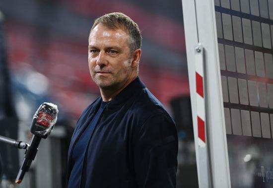 지난 9일 새벽(한국시각)에 열린 묀헨글라드바흐와의 분데스리가 32라운드 홈경기에서 승리한 바이에른 뮌헨 한지 플릭 감독이 인터뷰를 하고 있다. /사진=로이터