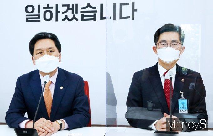 [머니S포토] 의협회장 접견하는 국민의힘 김기현