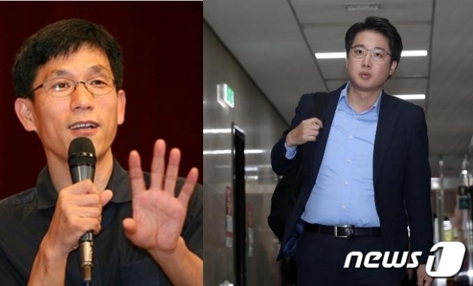 진중권 전 동양대 교수와 이준석 전 미래통합당 최고위원. © 뉴스1