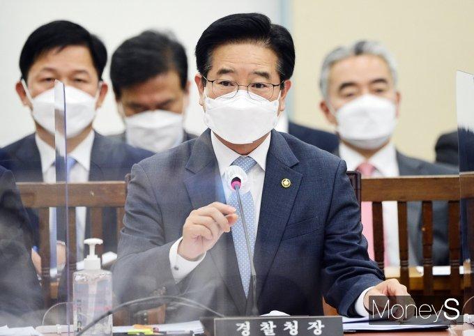 [머니S포토] 국회 행안위, 답변하는 김창룡 경찰청장