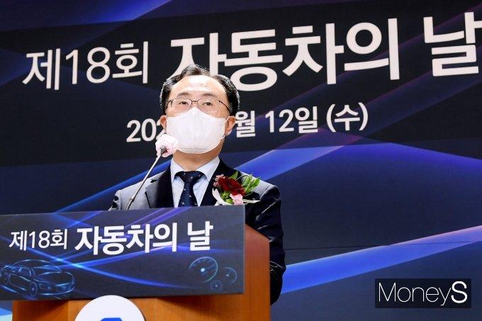 """[머니S포토] 문승욱 """"미래차 전환은 시대적 과제…상반기에 종합대책 수립"""""""