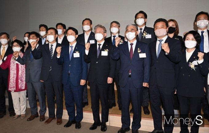 [머니S포토] 이재명 지지모임 '민주평화광장' 공식 출범