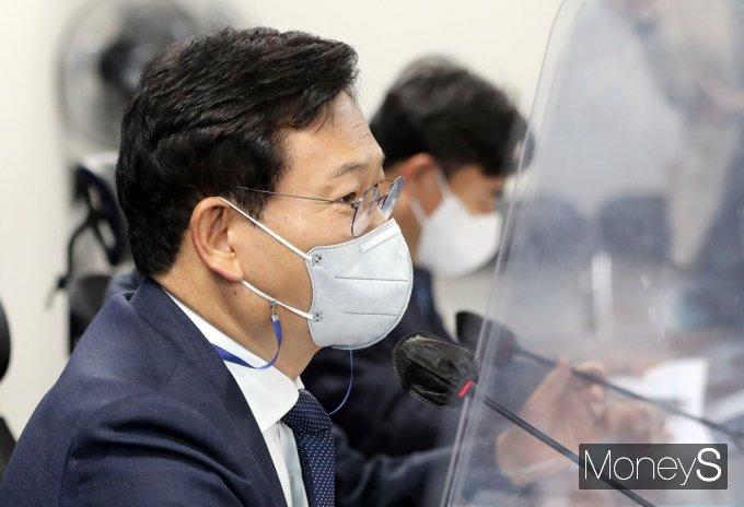 """[머니S포토] 與 송영길 """"부동산 양도세·LTV완화 집값안정, 조화되도록 할 것"""""""