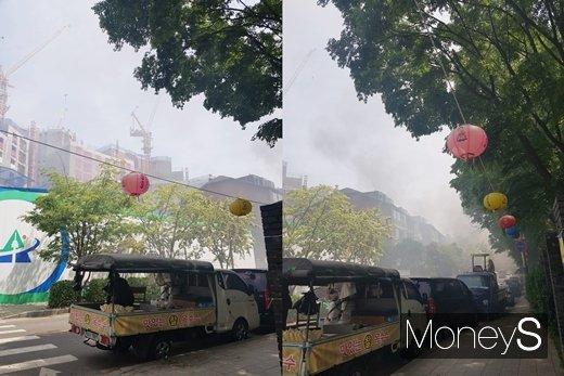 태영건설 시공, 용산 '효창 파크뷰 데시앙' 건설현장서 화재 발생