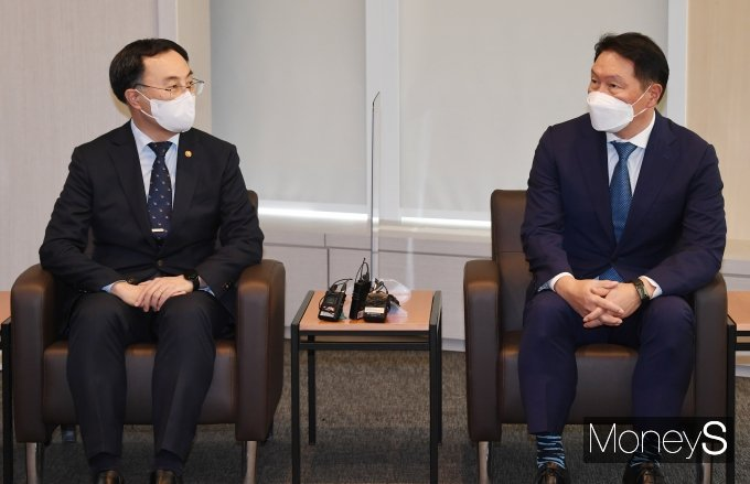 [머니S포토] 문승욱 장관, 취임 후 대한상의 첫 방문